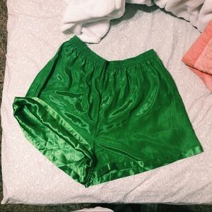 Victoria Secret vintage Shorts , green silk